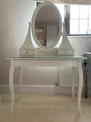 Ikea Hemnes Dressing Table With Mirror Plus 2 X Side Tables • 100£