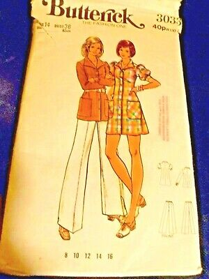 Vintage Butterick Ladies Sewing Pattern Trousers Shirt Dress & Top  Size 14 • 0.99£