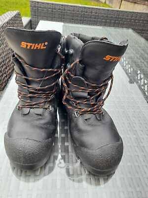 Stihl Chainsaw Boots Size 43 (9) Safety Boots, Excellent Condition • 9.99£