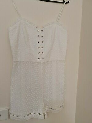AU35 • Buy Forever New White Lace Playsuit