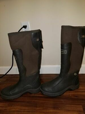 Lacrosse Alpha Mudlite 18  Brown Rubber Boots Size 10 Used Snow Hunting Fishing  • 61.51£