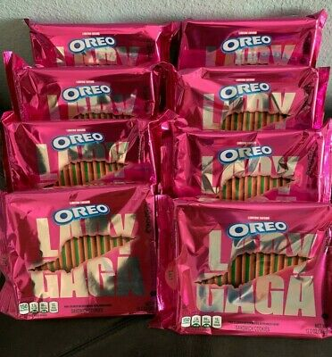 OREO Lady Gaga   Cookies Limited Edition  8 Bags   OF THE  Large  12.2 Oz SIZE   • 22.70£