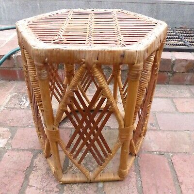 AU39.99 • Buy Vintage Bamboo Cane Coffee Table Or Side Table.