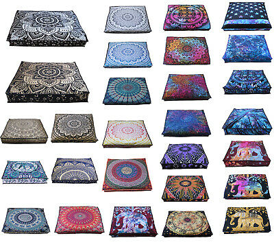 £12.21 • Buy New Indian Mandala Square Cushion Cover Large Ped Bed Covers Floor Pillow Cover