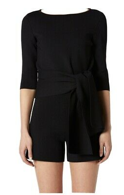 AU200 • Buy Scanlan Theodore Crepe Knit Tie Front Top
