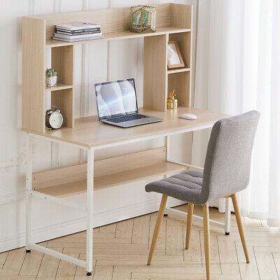 Computer Desk Laptop Table With Display Bookshelf Cabinet Storage Study Writing • 129.95£