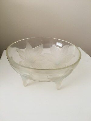 Rene Lalique LYS Clear , Frosted And Opalescent Glass Bowl • 1,499£