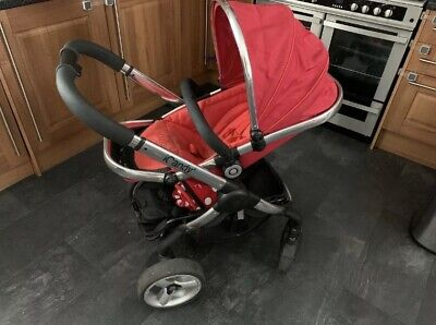 Icandy Peach 3 Buggy With Icandy Footmuff In Red Colour  • 75£