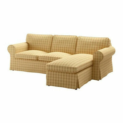 Ikea Cover Set For Ektorp 3-Seat Sofa With Chaise In Skaftarp Yellow 003.398.31 • 139.01£