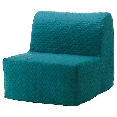 Ikea Cover Set For Lycksele Chair Bed In Vallarum Turquoise  003.234.15 • 59.01£