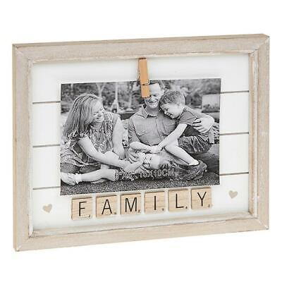 Free Standing Family Scrabble Letter Tile  Peg 6 X 4 Inch Photo Picture Frame  • 8.95£