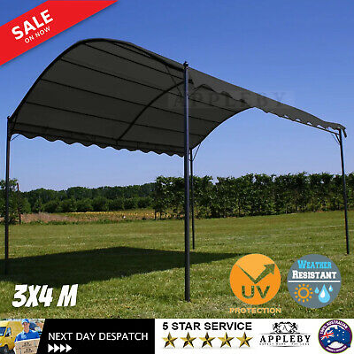 AU216.19 • Buy Steel Frame Gazebo Retractable Canopy Outdoor Garden Shade 3x4m Water Resistant