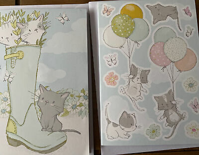 Kitten Home Made Pack Of 2 Blank Cards • 0.99£