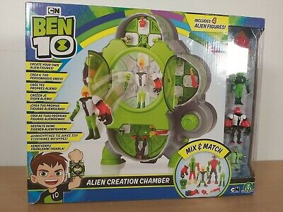 BNIB Ben 10 Alien Creation Chamber Playset Includes 4 Figures Collectable Sealed • 38.95£