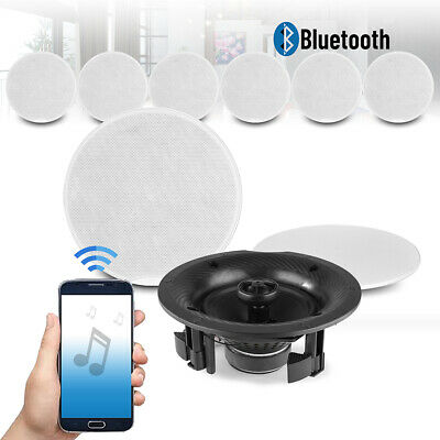 £439 • Buy 6.5  Multi Room Bluetooth Ceiling Speaker Set 4 Zone Music Home Sound System