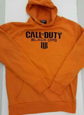 £14.75 • Buy Call Of Duty Black Ops Hoody Sweatshirt Size Large L Gorgeous Bright Orange