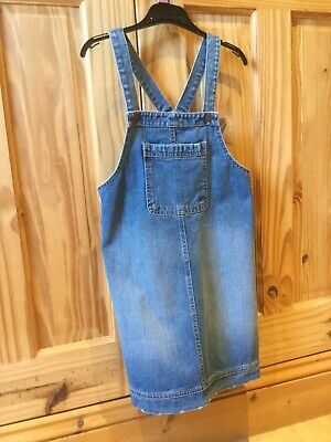 Girls Denim Dungaree / Pinafore Dress Age 10 - 11 Years • 5£