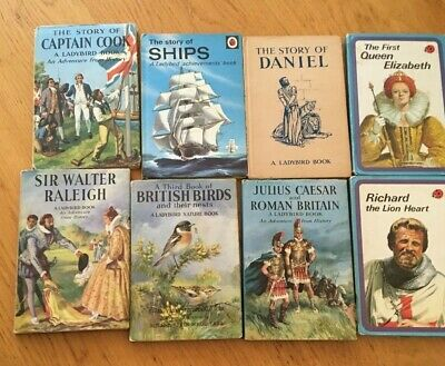 Vintage Ladybird Books X 8 From 1950s 1960s Assorted History Birds Ships • 21.99£