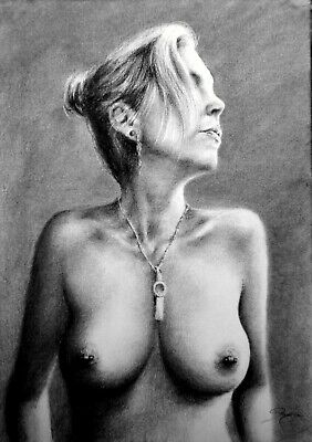 £38.94 • Buy Topless Portrait, Draw On Charcoal, A3 Paper