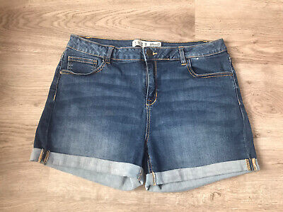 Ladies Stretchy Denim Shorts - Size 16 (Hardly Worn) • 5.50£