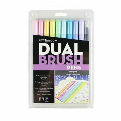 Tombow Dual Brush Pens Art Markers Brush And Fine Tip, Pastel Palette • 10.75£