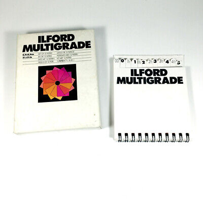 Ilford Multigrade Above Lens Filter Kit  8.9x8.9 Cm - Boxed And Complete • 30£
