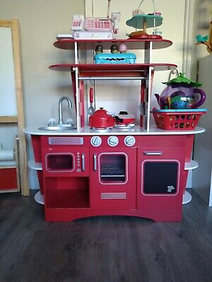 ELC Early Learning Centre Wooden Retro Diner Kitchen Plus Amazing Accessories.  • 20£