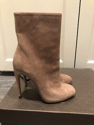 GUCCI Mauve Nude Suede Womens Boots New In Box Size Uk 3 Eur 36  • 250£