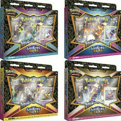 $89.99 • Buy Pokemon TCG: Shining Fates Mad Party Pin Collections Box  All 4 Boxes