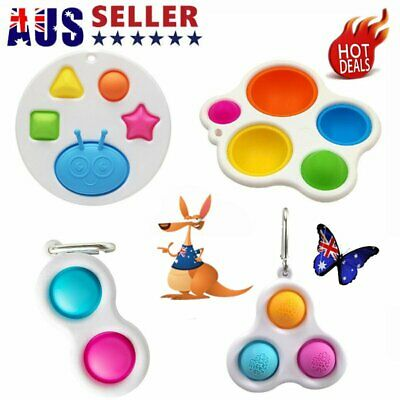 AU10.96 • Buy Baby Simple Dimple Sensory Fidget Toy Silicone Flipping Board 1+ Kids Gift HOT