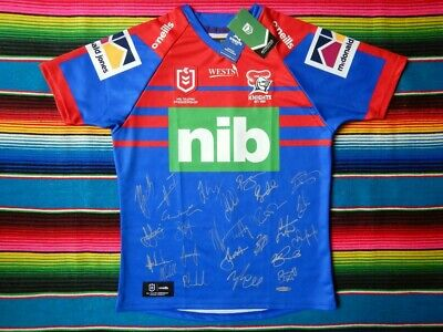 AU399.99 • Buy ✺Signed✺ 2021 NEWCASTLE KNIGHTS NRL Jersey PROOF COA 25 Autographs