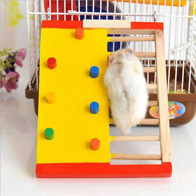 £4.99 • Buy 1pcs Wooden Hamster Climbing Ladder Colorful Climbling Toy Small Pet Accessories