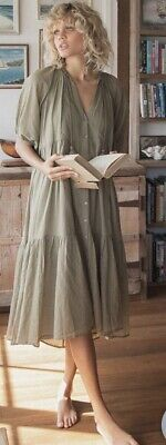 AU289 • Buy Spell Honey Smock Dress, Olive. Size XL. Brans New With Tags!