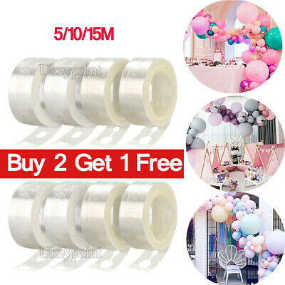 £3.09 • Buy 5-15M Balloon Strip Arch Party Connect Chain Plastic Tape Garland String Wedding