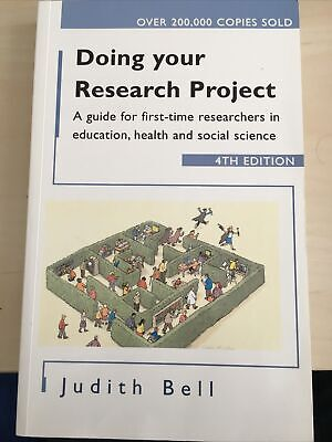 £8.99 • Buy Doing Your Research Project: A Guide For First-time Researchers In Social...