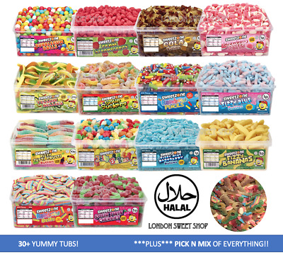 Sweetzone Halal HMC Sweets Tubs Largest Pick N Mix Range Available HUGE Variety • 9.89£