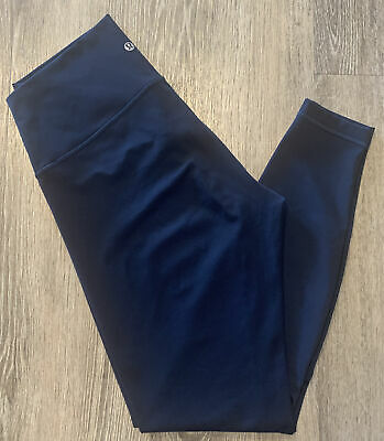 $ CDN62.01 • Buy LULULEMON Women's Size 10 Navy Blue Wunder Under High Rise Leggings LW5BP5S