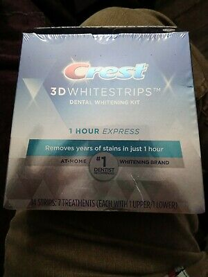 AU18.97 • Buy Crest 1 Hour Express 3D Teeth Whitening Strips Kit - 7 Count