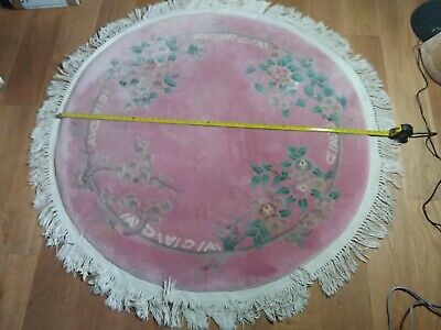 Vintage  Chinese Circular Rug 50 Inches  • 19.99£