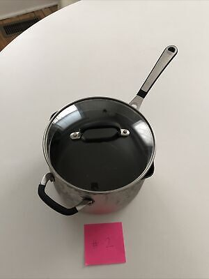 $ CDN31.70 • Buy {Pre}Loved Simply Calphalon 4 QT Sauce Pan With Strainer Glass Lid #2