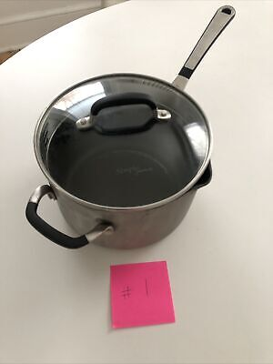 $ CDN31.70 • Buy {Pre}Loved Simply Calphalon 4 QT Sauce Pan With Strainer Glass Lid #1