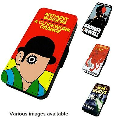 Printed Faux Leather Flip Phone Case For IPhone - Various Books Literature • 9.75£