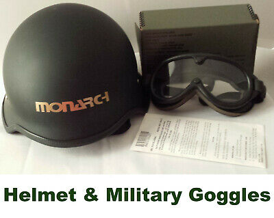 $100 • Buy MONARCH Half Shell Style XL Motorcycle HELMET Open Face Stemaco Military Goggles