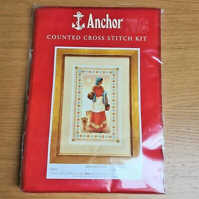 Anchor Counted Cross Stitch Kit - African Lady • 4.90£