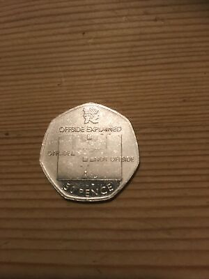 Olympic 50p Football Offside Rule Fifty Pence Circulated 2011 • 0.99£