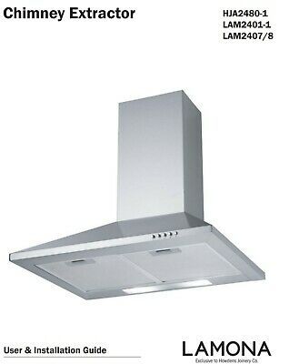 *NEW* Howdens Lamona 60cm Chimney Extractor Cooker Hood HJA24801 Stainless Steel • 55£