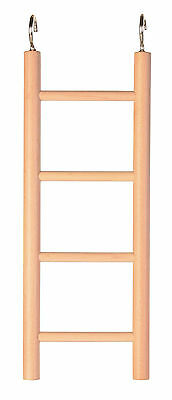 4 Rung Wooden Ladder Bird Budgie Rodent Hamster Mouse Gerbil Cage Toy 20cm • 3.29£