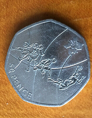 RARE 50p Coin London 2012 Olympic BASKETBALL Fifty Pence Coin 2011  • 0.99£