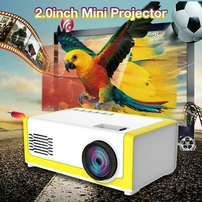 Full HD 1080P LCD Mini Projector Home Theater TV Home USB HDMI AV VGA For IPhone • 36.99£