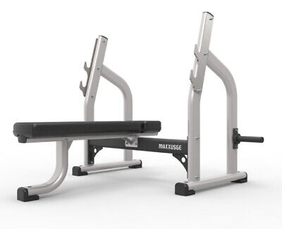 £650 • Buy MAS Fitness Olympic Flat Bench For Strength Gym Training